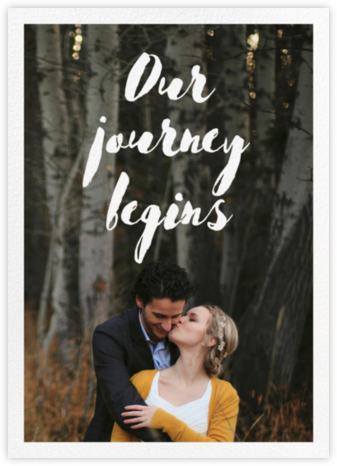 Our Journey Begins (Double Sided) - Paper Source - Wedding invitations