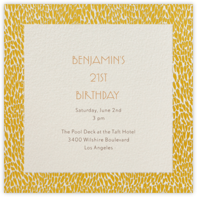 Oblong - Paella - Paperless Post - Adult Birthday Invitations
