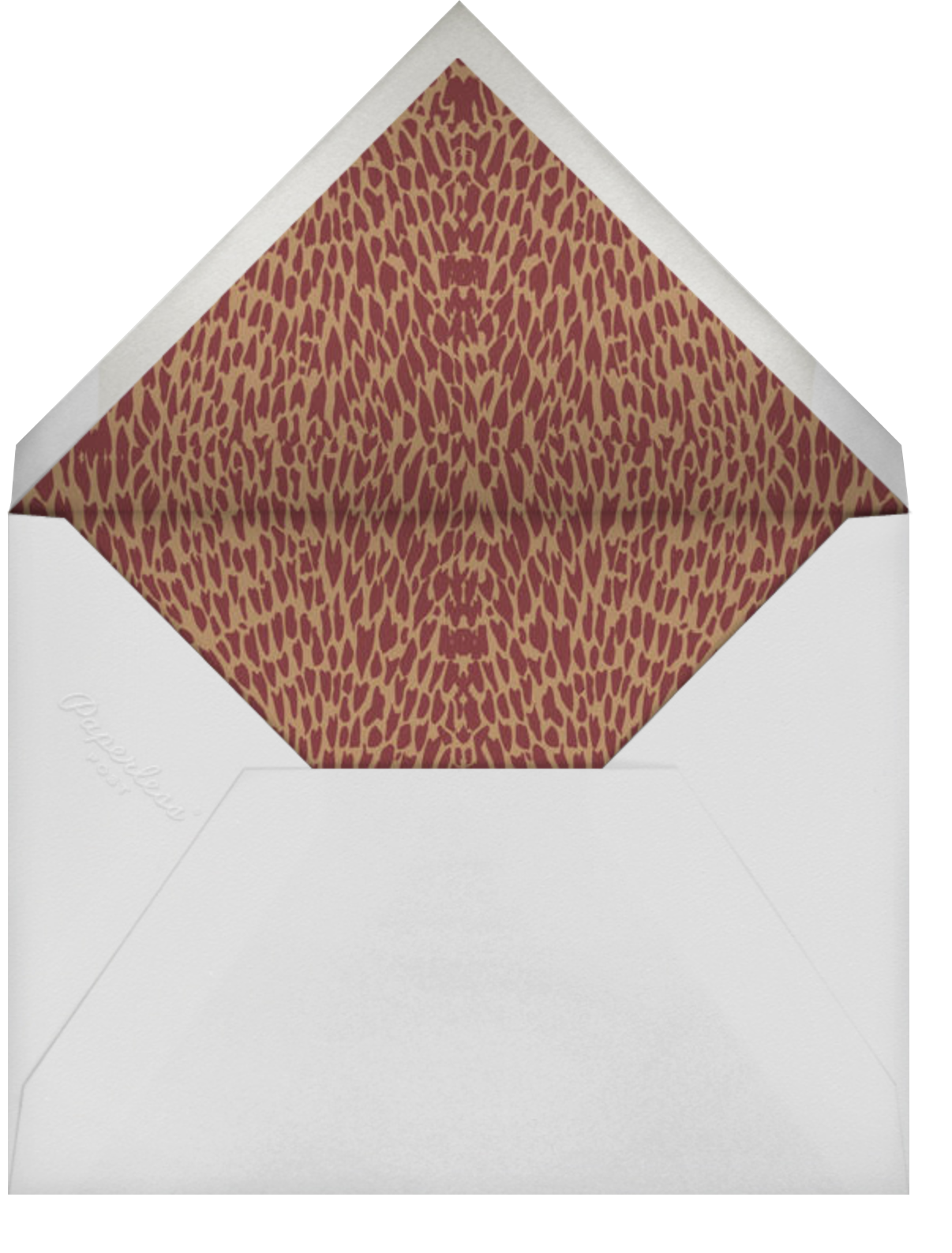 Oblong (Burgundy) - Paperless Post - Envelope