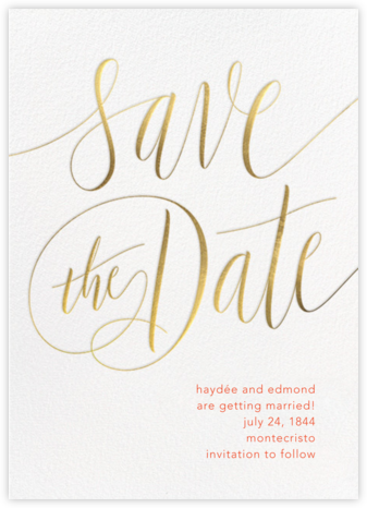 Saint-Preux - Gold - Paperless Post - Save the date cards and templates