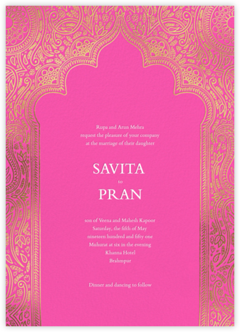Dvaar (Invitation) - Schiaparelli - Paperless Post - Indian Wedding Cards