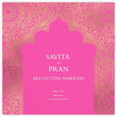 Dvaar (Save the Date) - Schiaparelli - Paperless Post - Save the dates