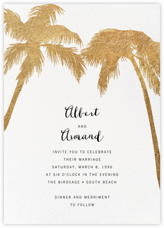 Tropical Palm - White - Paperless Post - Online Party Invitations