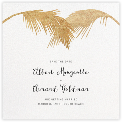 Tropical Palm (Save the Date) - White - Paperless Post - Destination