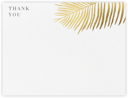 Palmier I (Stationery) - Gold - Paperless Post - Wedding thank you cards