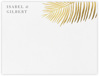 Palmier I (Stationery) - Gold - Paperless Post - Personalized Stationery