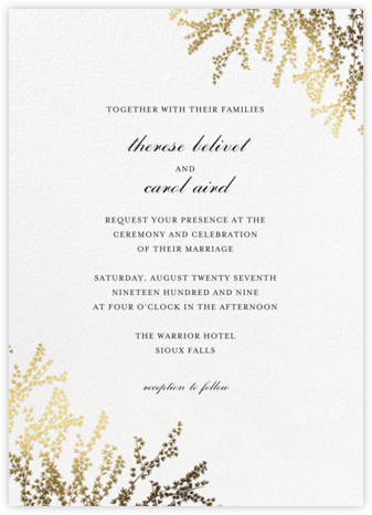 forsythia invitation white