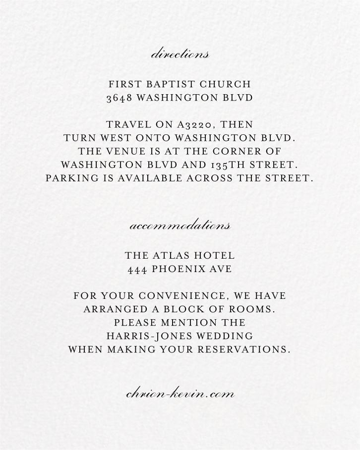 Forsythia (Invitation) - White - Paperless Post - All - insert front