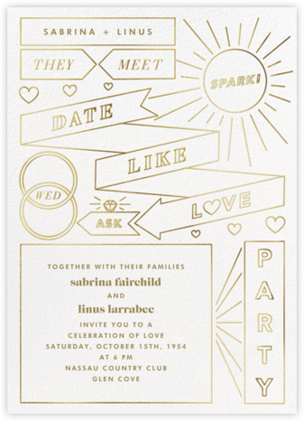 Chronology (Invitation) - White - Paperless Post - Modern wedding invitations