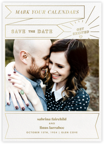 Chronology (Save the Date) - White - Paperless Post - Modern save the dates