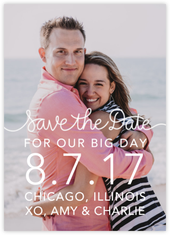 Our Big Day - White - Crate & Barrel - Online Party Invitations