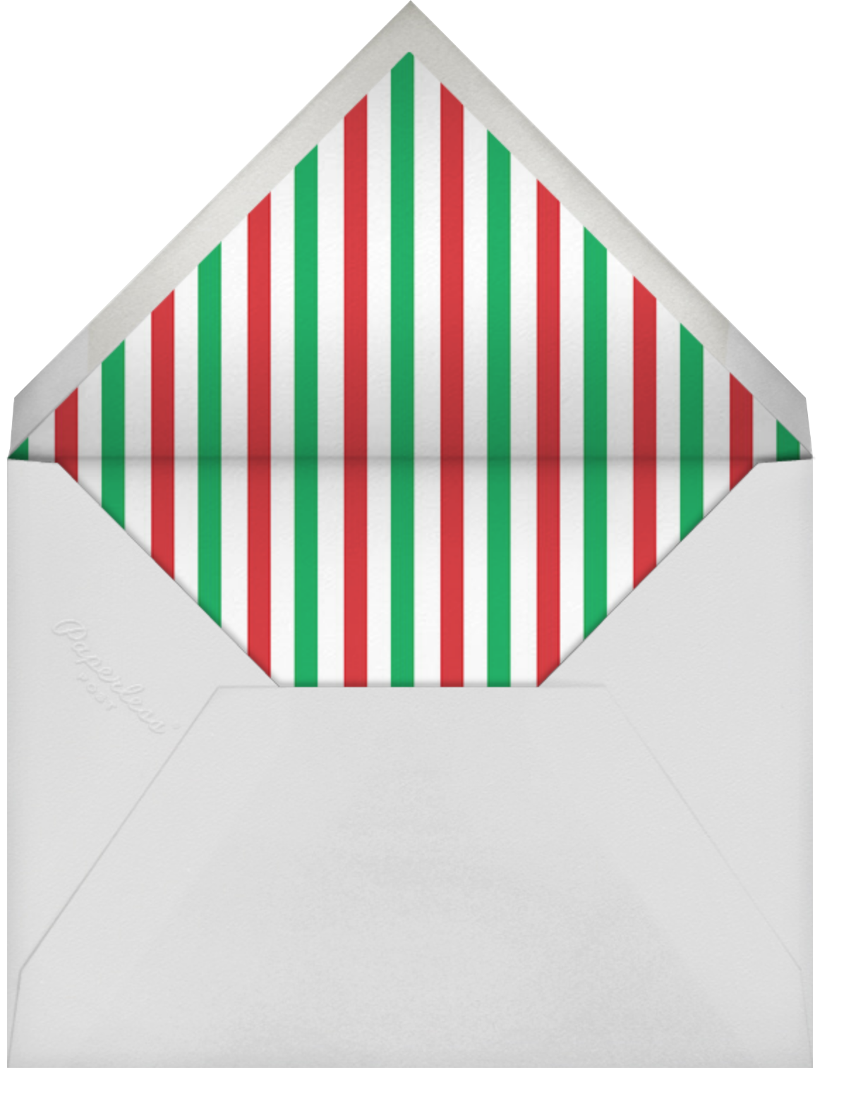 Lights Twisted on Dasher's Paw - Mr. Boddington's Studio - Holiday cards - envelope back