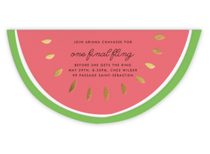 Little Miss Melon - Meri Meri - Bachelorette party invitations