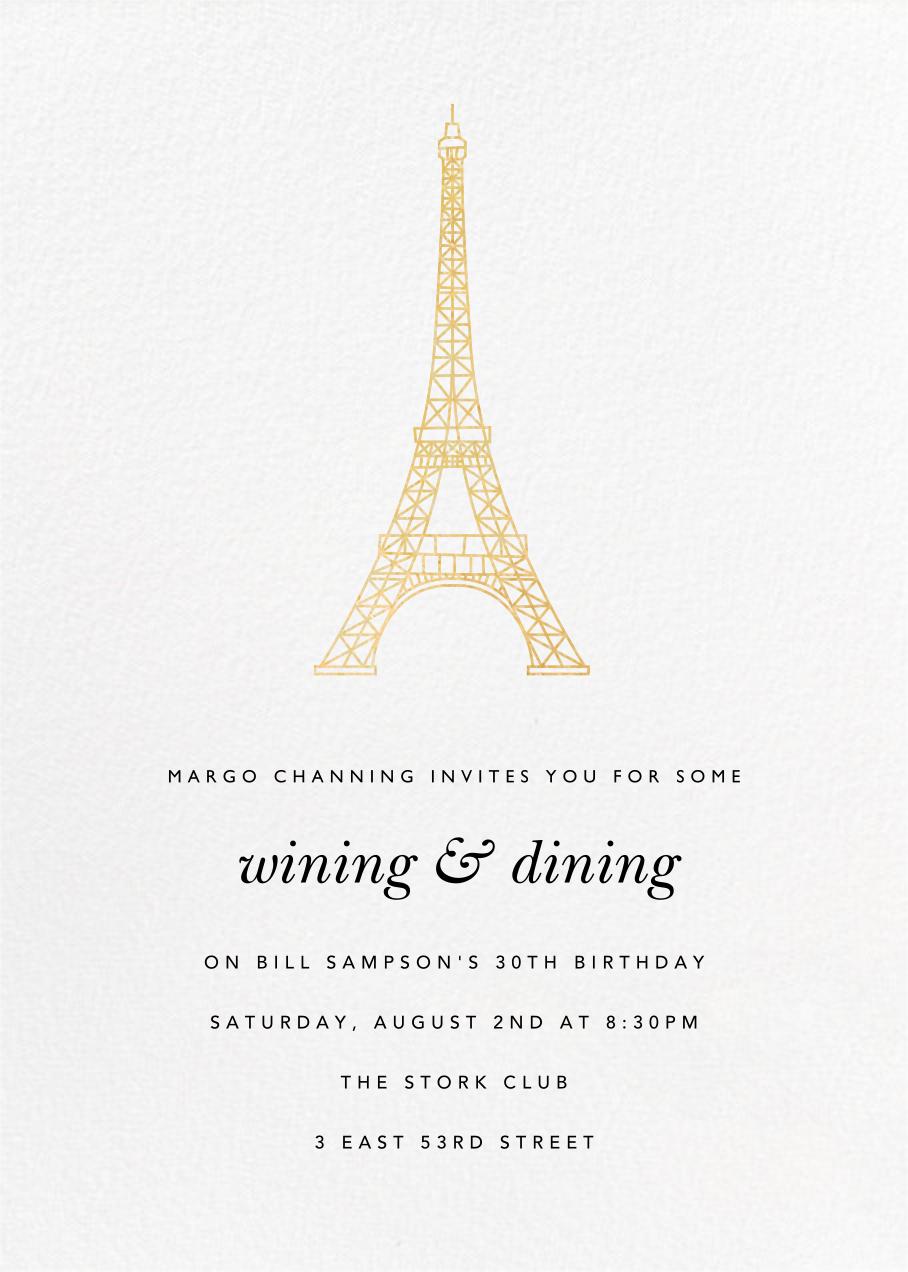 Tour Eiffel - Paperless Post -