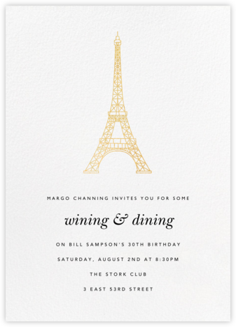 Tour Eiffel - Paperless Post - Invitations