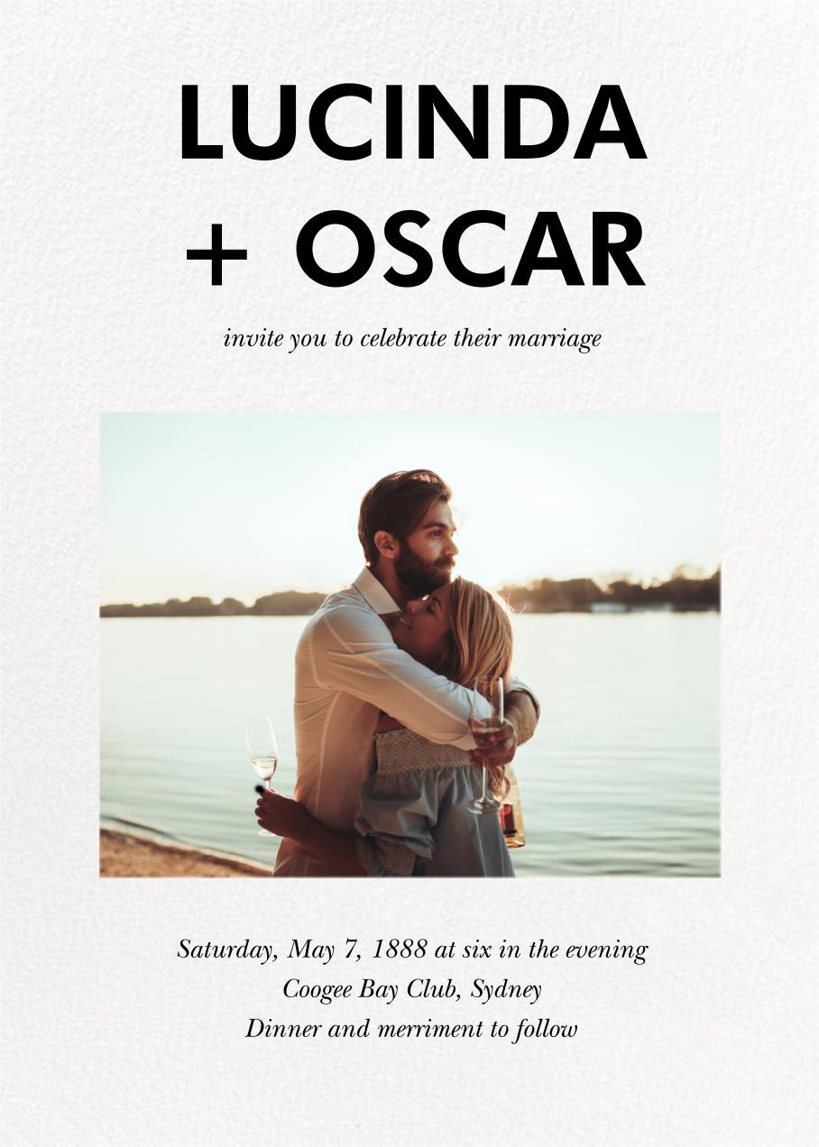 Hedcut (Invitation) - Paperless Post - Wedding invitations
