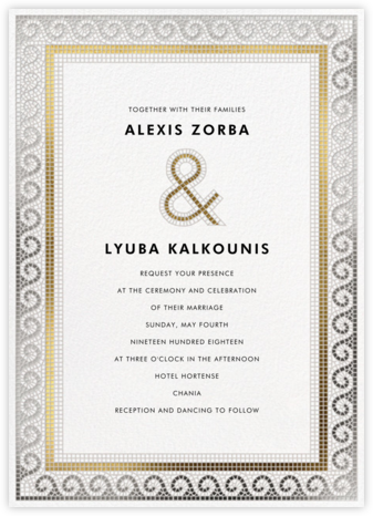Tesserae (Invitation) - Paperless Post - Destination wedding invitations
