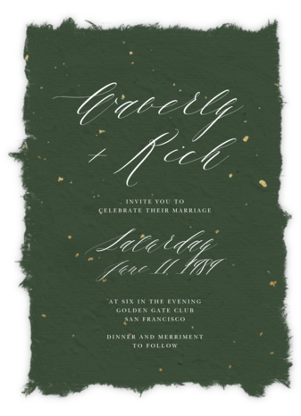 Cennini - Greenwood (Invitation) - Paperless Post - Rustic wedding invitations