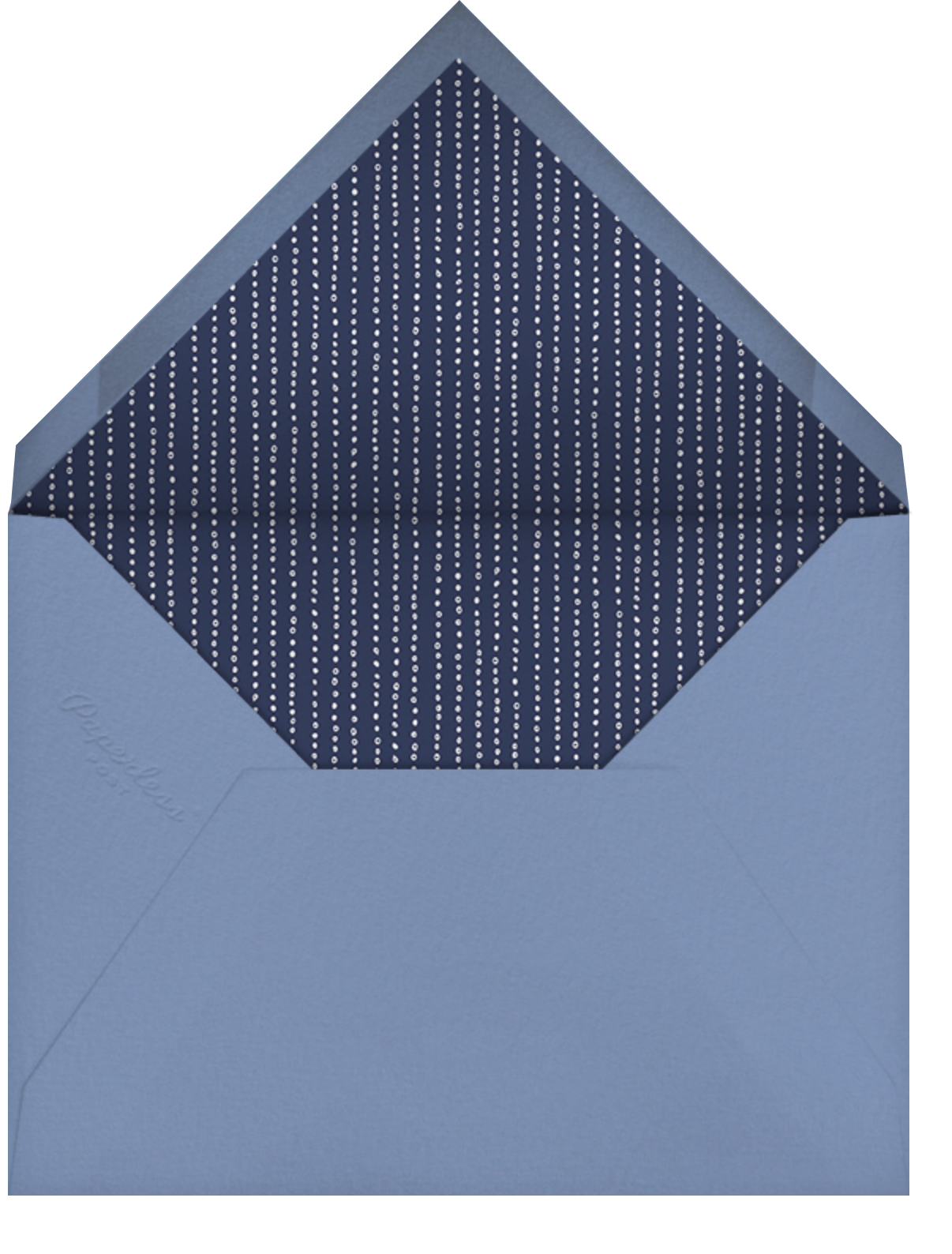 Indented Rounded Corners (Tall) - Dark Blue - Paperless Post - Baptism  - envelope back