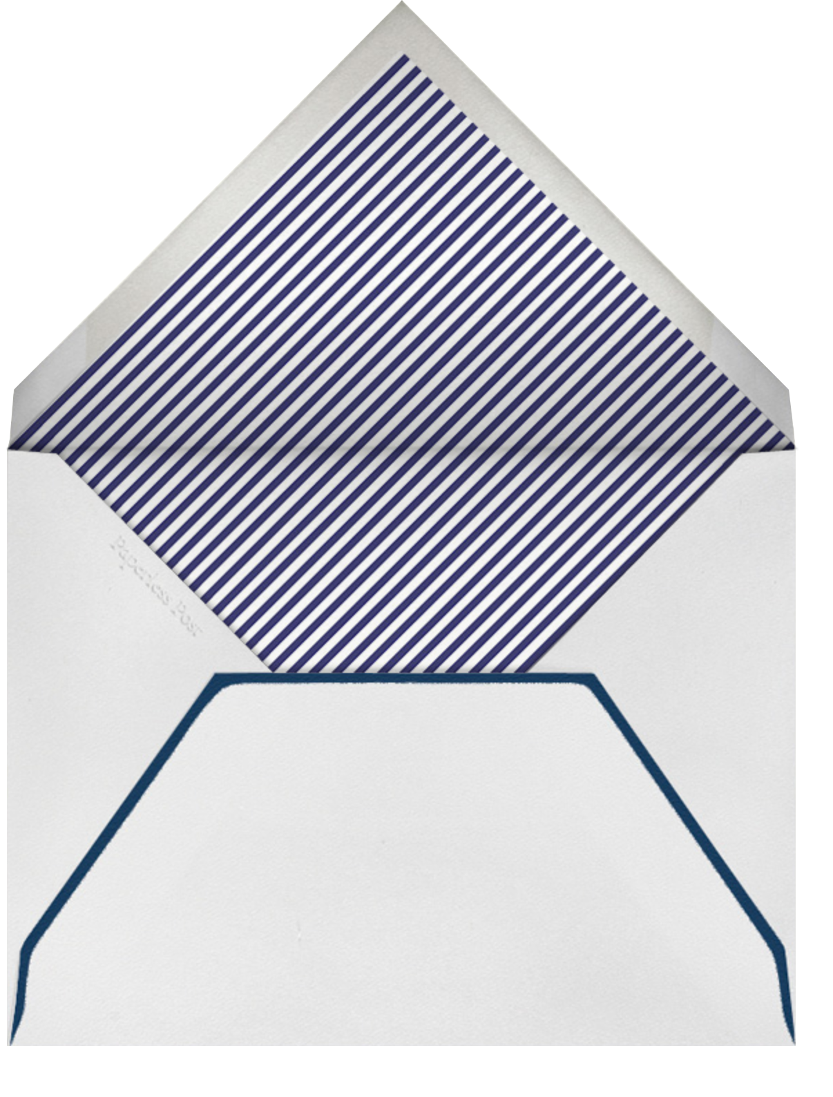 Mr. Porter's Ribbons - Navy - Mr. Boddington's Studio - null - envelope back