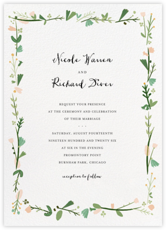 Miss Potter (Invitation) - Mr. Boddington's Studio - Wedding invitations