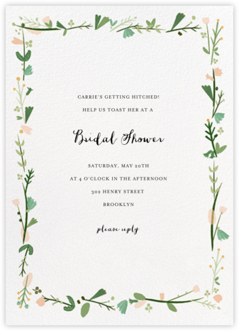 Miss Potter - Mr. Boddington's Studio - Bridal shower invitations
