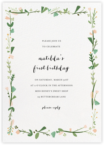 Miss Potter - Mr. Boddington's Studio - First Birthday Invitations