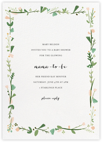 Miss Potter - Mr. Boddington's Studio - Baby Shower Invitations