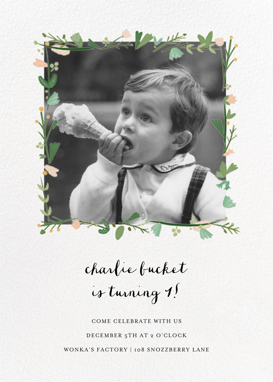 Miss Potter Photo - Mr. Boddington's Studio - Kids' birthday invitations