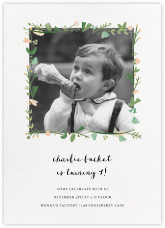 Miss Potter Photo - Mr. Boddington's Studio - Kids' birthday invitations