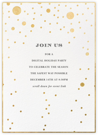Champagne Bubbles (Single-Sided) - kate spade new york - Holiday invitations