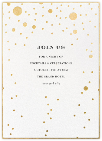 Champagne Bubbles (Single-Sided) - kate spade new york - Winter entertaining invitations