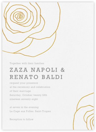 Cabbage Rose - Crane & Co. - Wedding invitations