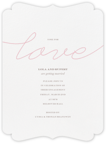 Thayer - Crane & Co. - Engagement party invitations