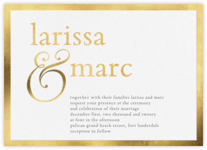 Vermeil (Invitation) - Vera Wang - Online Wedding Invitations