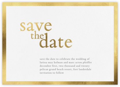 Vermeil (Save the Date) - Vera Wang - Save the dates