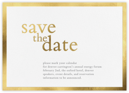 Vermeil (Save the Date) - Vera Wang - Holiday Save the Dates