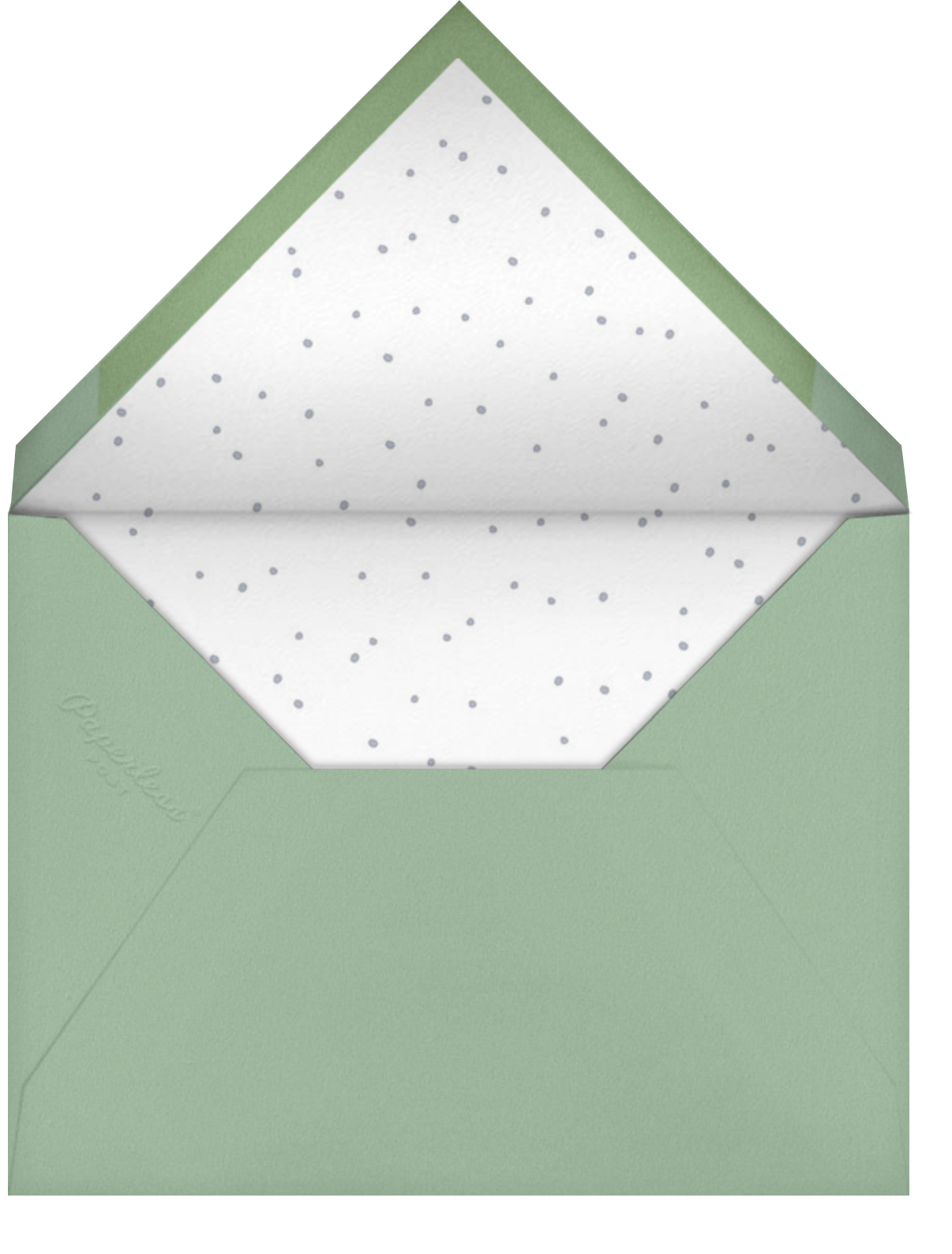 Jungle Love - Little Cube - Woodland baby shower invitations - envelope back