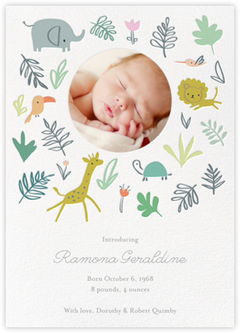 Jungle Love Photo - Little Cube - Birth announcements