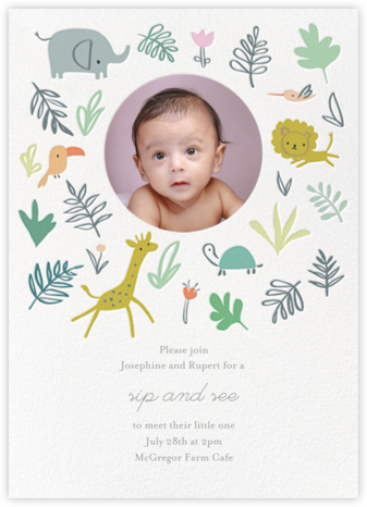 Jungle Love Photo - Little Cube - Elephant Baby Shower Invitations