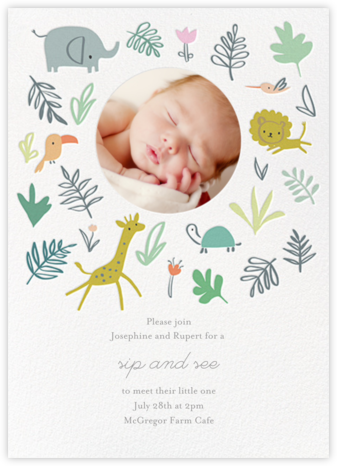Jungle Love Photo - Little Cube - Celebration invitations