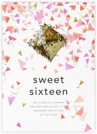 Swing - CONFETTISYSTEM - Sweet 16 invitations