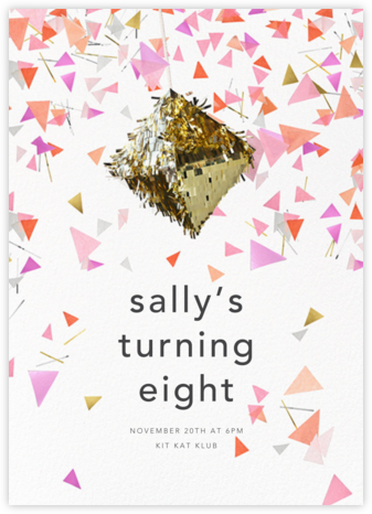 Swing - CONFETTISYSTEM - Birthday invitations