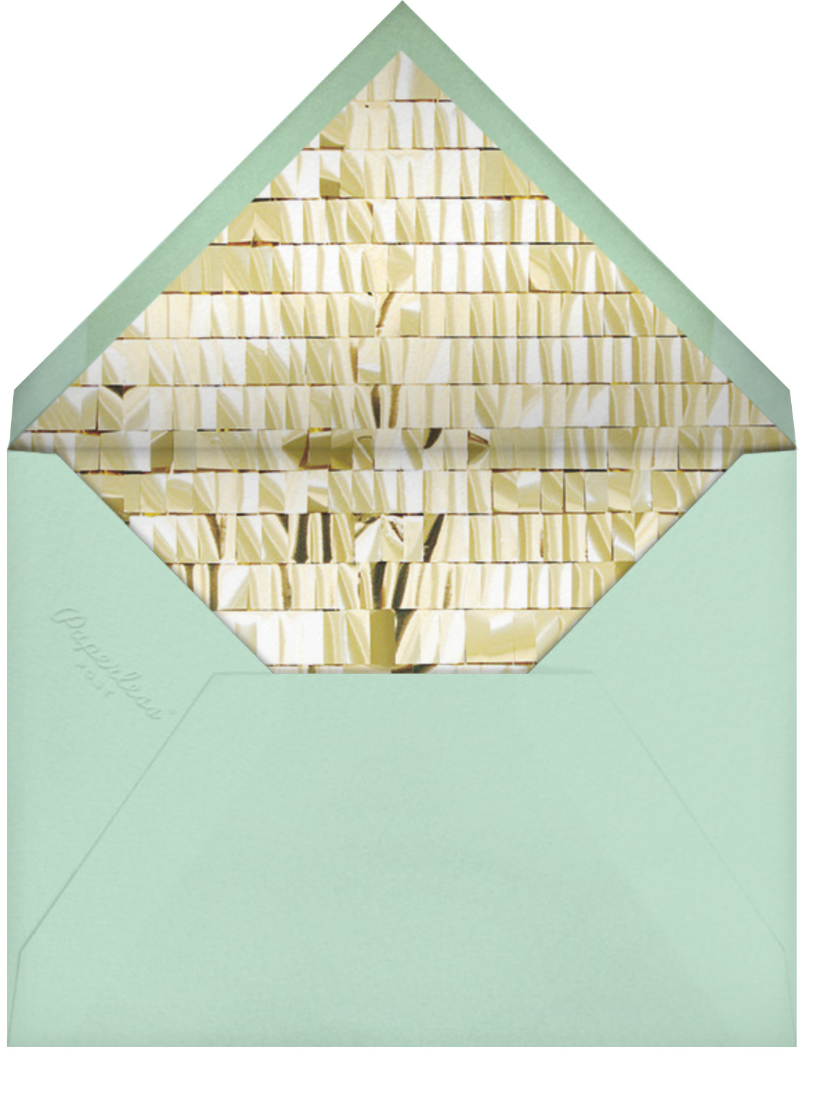 Chorus - Blue - CONFETTISYSTEM - Adult birthday - envelope back