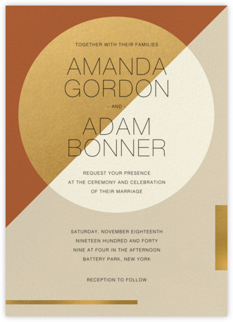 Danaë (Invitation) - Paperless Post - Wedding Invitations