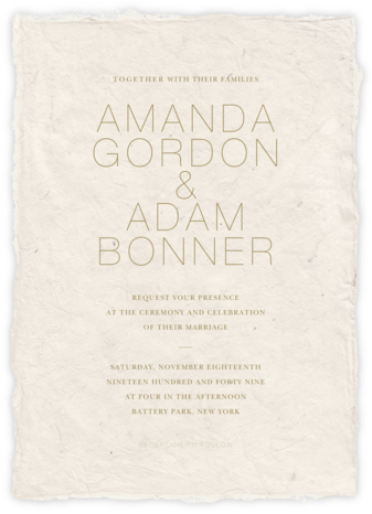 Marmorino (Invitation) - Light - Paperless Post - Wedding Invitations