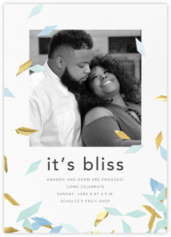 Flutter Photo - Celadon - CONFETTISYSTEM - Engagement party invitations