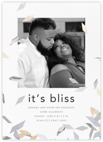 Flutter Photo - Neutral - CONFETTISYSTEM - Engagement party invitations