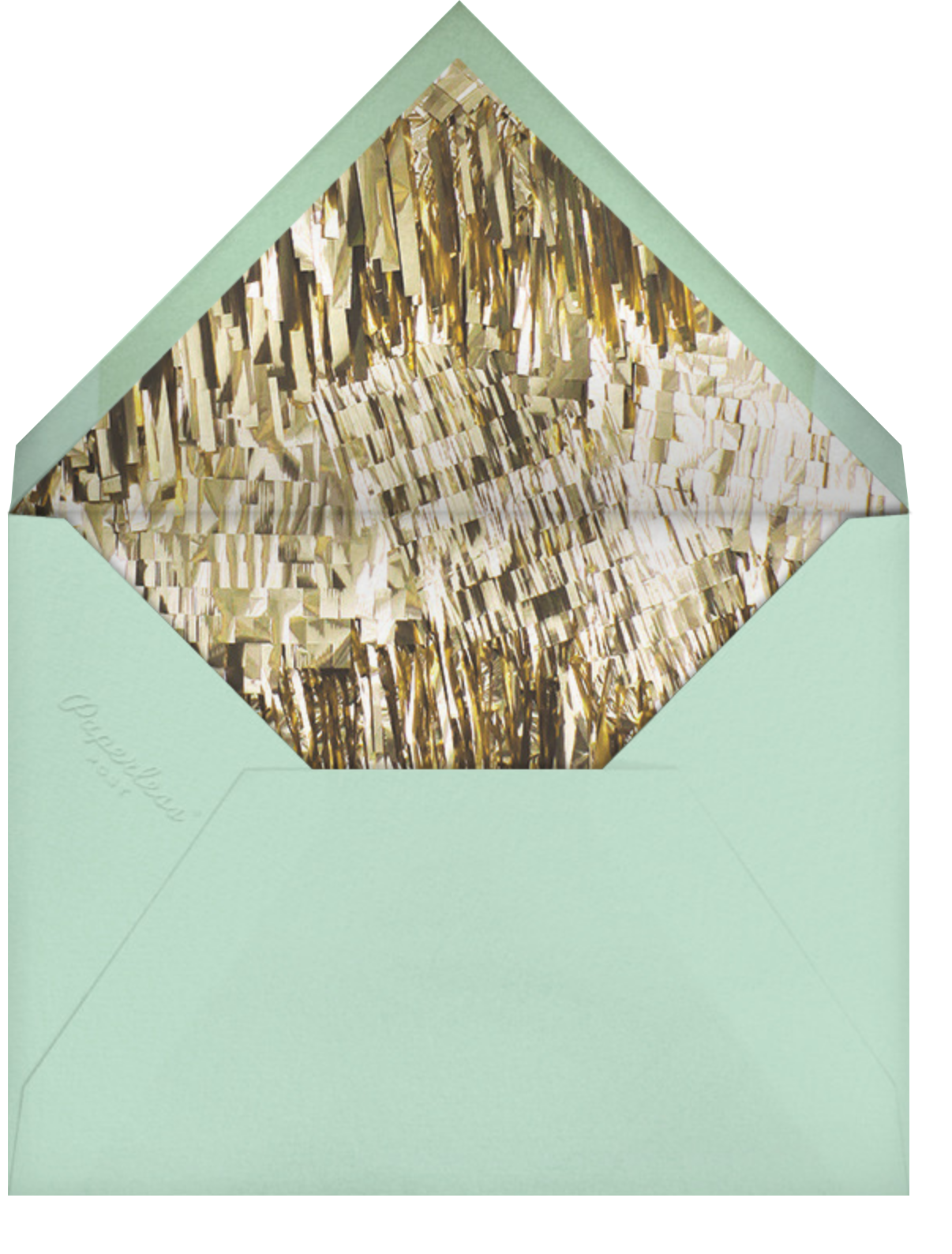 Flutter Photo - Celadon - CONFETTISYSTEM - General entertaining - envelope back