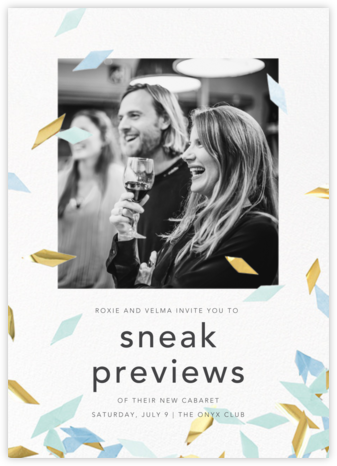 Flutter Photo - Celadon - CONFETTISYSTEM - Launch Party Invitations